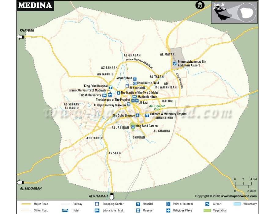 Buy Medina City Map