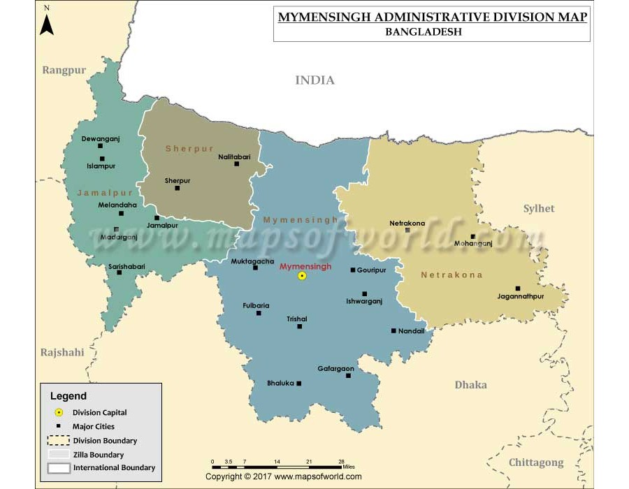 Buy Mymensingh Division Map