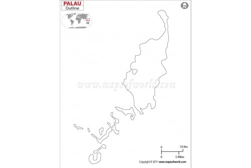 Palau Outline Map