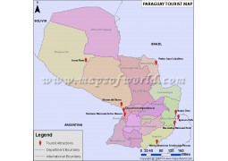 Paraguay Travel Map