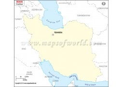 Iran Outline Map