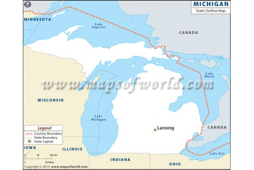 Michigan Outline Map