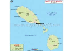 Saint Kitts And Nevis Road Map