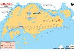 Singapore Airport Map