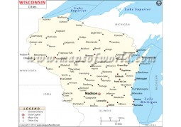 Map of Wisconsin Cities