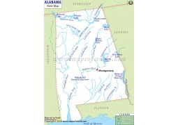 Alabama River Map