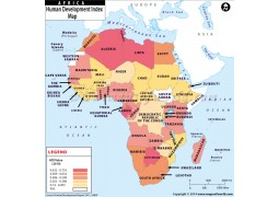Human Development Index Map of Africa