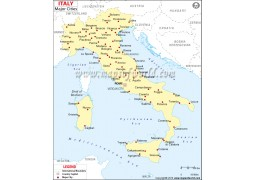 Map of Italy with Major Cities