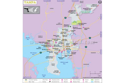 Tampa City Map