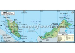 Malaysia Latitude and Longitude Map