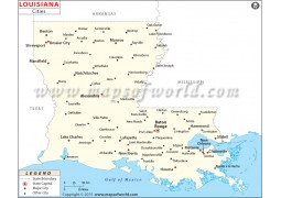Map of Louisiana Cities