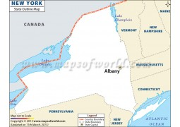 New York Outline Map