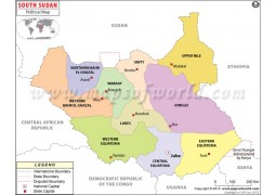 Political Map of South Sudan