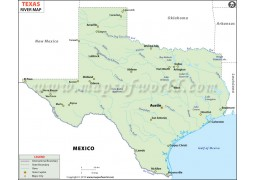 Texas River Map