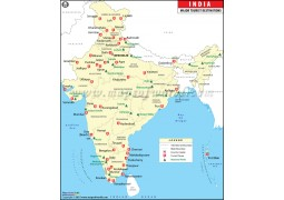 India Map with Tourist Places