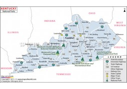 Kentucky National Parks Map