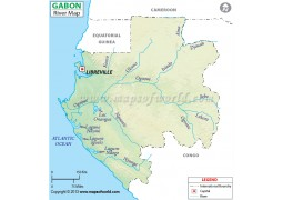 Gabon River Map