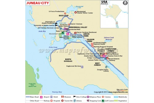 Juneau City Map