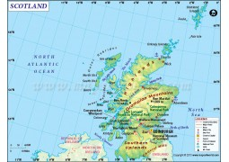 Scotland Country Map