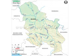 Serbia River Map