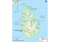 Sri Lanka River Map