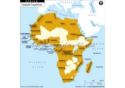 Coastal Countries of Africa Map