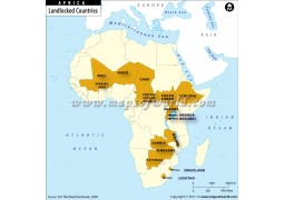 Landlocked Countries of Africa Map