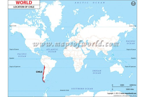 Chile Location on World Map