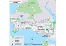 West Vancouver Map