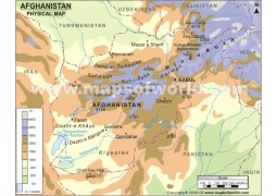 Afghanistan Physical Map