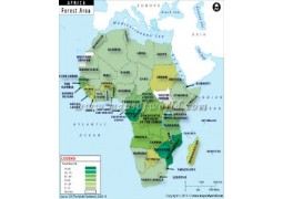 African Countries by Forest Area Map