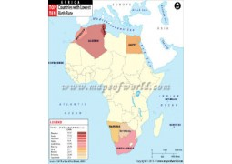African Countries With Lowest Birth Rate Map