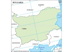 Bulgaria Outline Map in Green Color