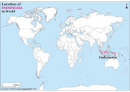 Indonesia Location on World Map