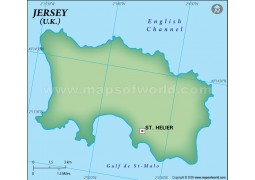 Jersey Blank Map, Dark Green