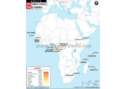 Least Populated African Countries Map