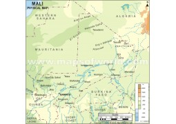 Mali Physical Map