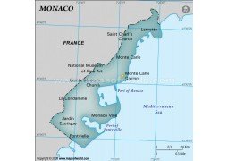 Map of Monaco with Cities