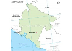Montenegro Outline Map