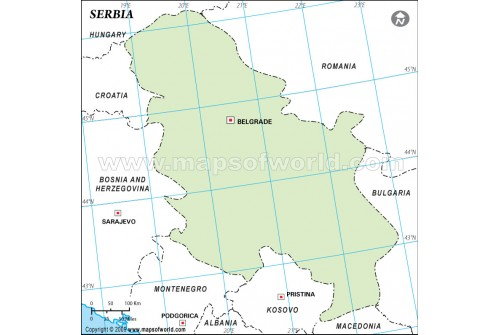 Serbia Outline Map