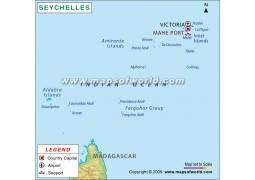 Mahe Port Map of Seychelles