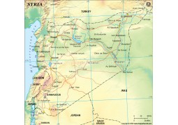 Syria Political Map, Green