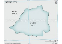 Vatican City Blank Map, Gray