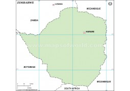 Zimbabwe Outline Map