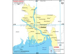 Bangladesh Latitude and Longitude Map