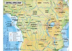Central Africa Country Map