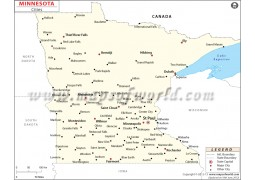 Minnesota Cities Map