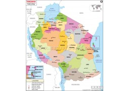 Political Map of Tanzania