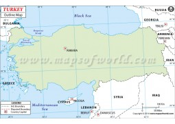 Turkey Outline Map