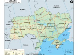 Ukraine Latitude and Longitude Map